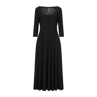 NORMA KAMALI 7分丈ワンピース・ドレス ブラック S ポリエステル 95% / ポリウレタン 5% 7分丈ワンピース・ドレス