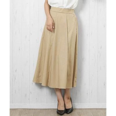 スカート 麻綿スカート