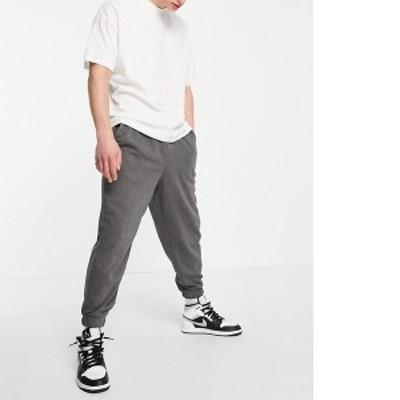エイソス メンズ カジュアルパンツ ボトムス ASOS DESIGN oversized jersey sweatpants in black vintage wash - part of a set Magnet
