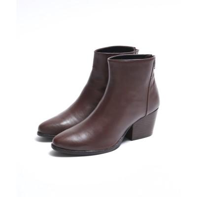 ABAHOUSE PICHE / ブロックヒールショートブーツ WOMEN シューズ > ブーツ