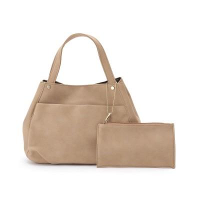 SHOO・LA・RUE(シューラルー) 【WEB限定カラーあり】ポーチ付きふっくらトートバッグ