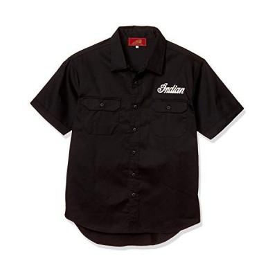 [インディアン] シャツ Indian Works ワークシャツ IS-681 ブラック 日本 M (日本サイズM相当)