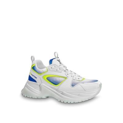 ルイヴィトン LOUIS VUITTON スニーカー シューズ 靴 ホワイト ブルー イエロー