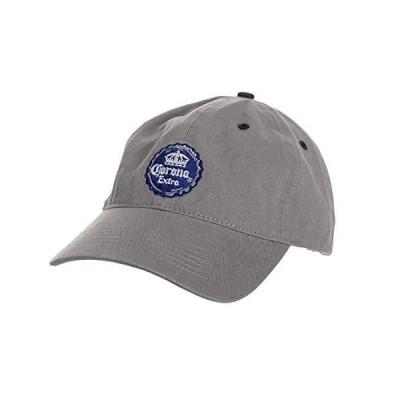 Corona 刺繍 ユニセックス 調節可能 お父様スタイル 帽子 コットン野球帽 US サイズ: One Size カラー: グレー