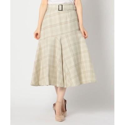 MISCH MASCH / チェック柄裾フレアスカート WOMEN スカート > スカート