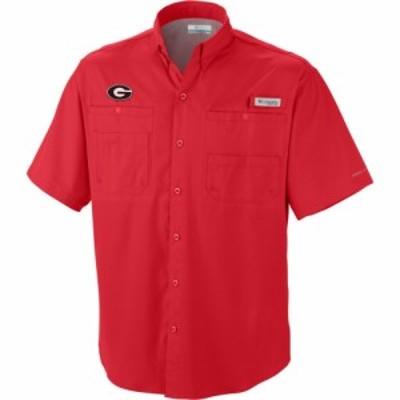 コロンビア Columbia メンズ トップス Georgia Bulldogs Red Tamiami Performance Shirt