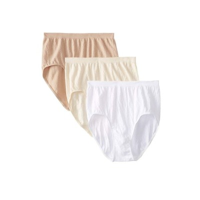バリ Bali レディース ショーツのみ インナー・下着 Comfort Revolution Seamless Briefs 3-Pair Beige Damask/White Damask/Nude Damask