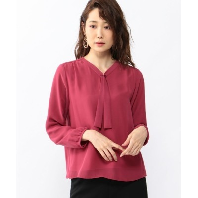 CROSSPLUS ONLINE / ボウタイシフォンブラウス WOMEN トップス > Tシャツ/カットソー