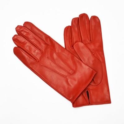 【size7h,8h】MEROLA【メローラ】手袋/グローブ ME429002 40 lamb leather ROSS( ラムレザー ロッソ)