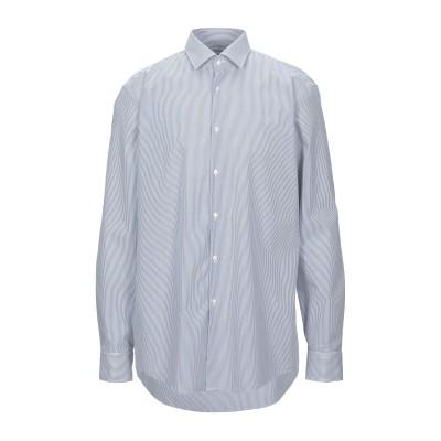 HUGO HUGO BOSS シャツ ダークブルー 43 コットン 100% シャツ