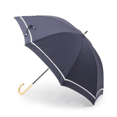WORLD ONLINE STORE SELECT / because ピンドット柄切り替え晴雨兼用長傘 WOMEN ファッション雑貨 > 長傘