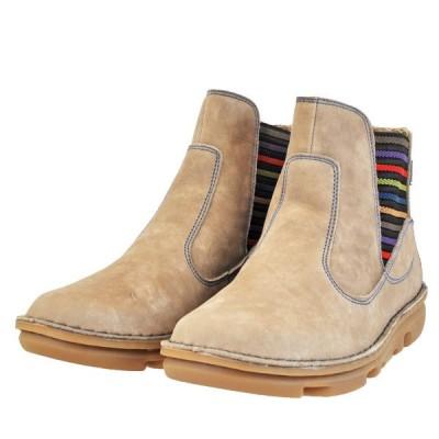 レディース 靴 ブーツ コモンズ スペイン製 ペタンコ サイドゴアブーツ 送料無料 オーク COM30503OAK