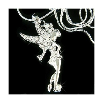 ネックレス インポート スワロフスキ クリスタル ジュエリー TINKERBELL made with Swarovski Crystal Fairy Tinker Bell Angel Wing Necklace NEW
