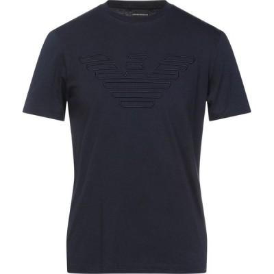 アルマーニ EMPORIO ARMANI メンズ Tシャツ トップス t-shirt Dark blue