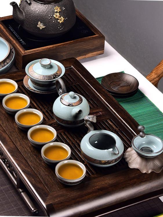 茶具中式套裝家用茶杯陶瓷高檔茶壺辦公室輕奢小功夫泡茶神器套組