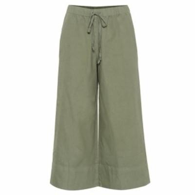 ベルベット グラハムandスペンサー Velvet レディース クロップド ボトムス・パンツ Mirta cropped wide-leg cotton pants Jungle