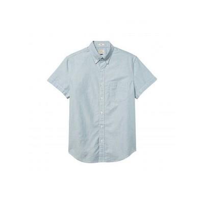 J.Crew メンズ 男性用 ファッション ボタンシャツ Short Sleeve Solid Oxford - Seaside