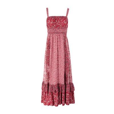 FREE PEOPLE ロングワンピース&ドレス レッド 2 レーヨン 100% ロングワンピース&ドレス