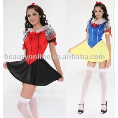 高品質 高級コスプレ衣装 ディズニーランド ハロウィン ディズニー プリンセス ドレス 白雪姫 風 Halloween Costumes Snow White Costume