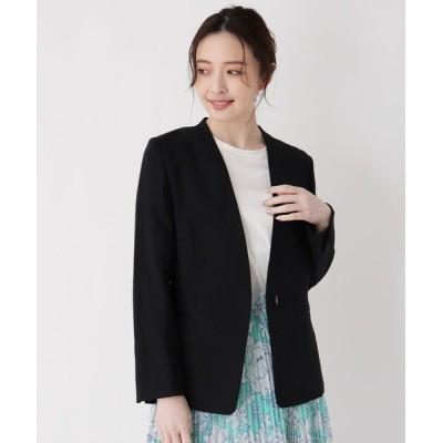 WORLD ONLINE STORE SELECT / 【LIZA(リザ)】リネン混カラーレスVジャケット WOMEN ジャケット/アウター > ノーカラージャケット