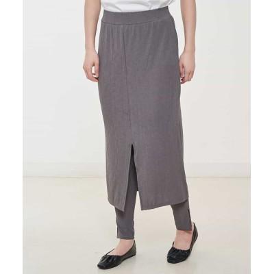 (comfy Couture/コンフィー クチュール)【洗える】レギンス付レイヤードスカート/レディース グレー