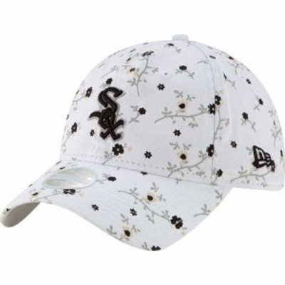 ニューエラ New Era レディース キャップ 帽子 Chicago White Sox White Blossom 9Twenty Adjustable Hat