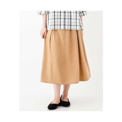 eur3 / 【洗える/大きいサイズ】タックフレアスカート
