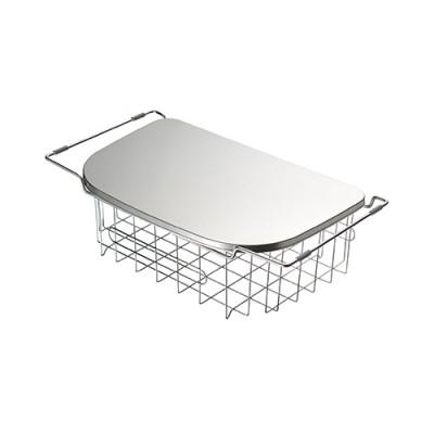 【公式】調理スペースが広がるトレー&水切りシンク内でも天板の上でも使える深型水切りカゴ