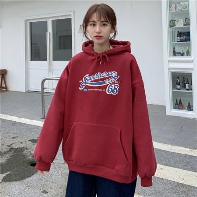 ゾエ ジェンコ Zoe Jenko レタリングプリント 裏起毛パーカー 7927 (WINE)