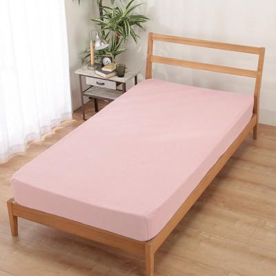 セブンプレミアムライフスタイル オーガニックコットンブレンド パイルのびのびシーツ セミダブルサイズ ピンク