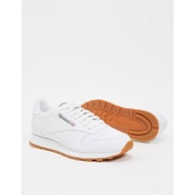 リーボック メンズ スニーカー シューズ Reebok Classic leather sneakers in white 49797 White