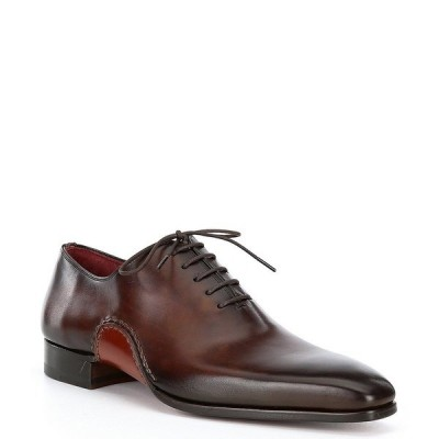 マグナーニ メンズ ドレスシューズ シューズ Men's Aranga Wholecut Leather Oxfords Tabaco