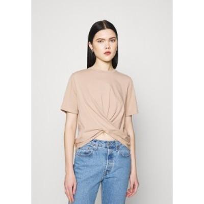 ヤス レディース Tシャツ トップス YASSARITA - Basic T-shirt - light taupe light taupe