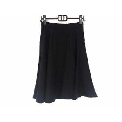 ランバンオンブルー LANVIN en Bleu スカート サイズ38 M レディース 美品 黒【中古】20200503