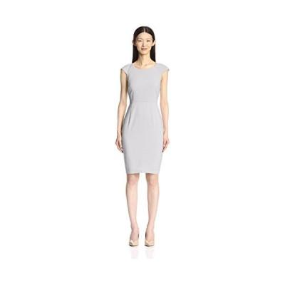 ソサイエティ NEW ヨーク レディース キャップ スリーブ ドレス, シルバー, 6 US(海外取寄せ品)