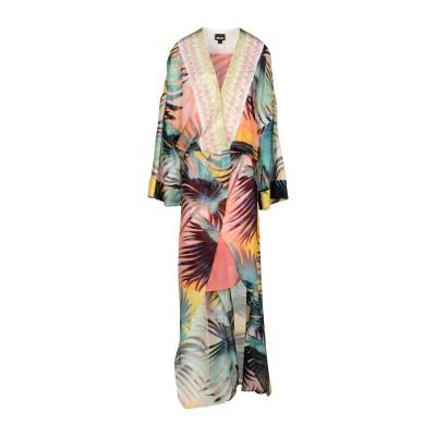 ジャストカヴァリ JUST CAVALLI ロングワンピース&ドレス オレンジ 40 シルク 100% / レーヨン ロングワンピース&ドレス