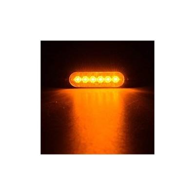 4本6-LEDウルトラスリム警告緊急工事表面実装フラッシュストロボライト(アンバー) 4pcs 6-LED Ultra Slim Warning Em