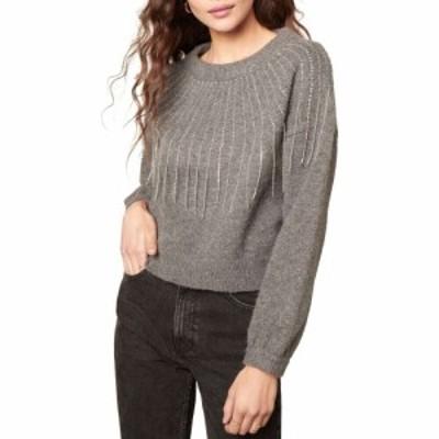 スティーブ マデン BB DAKOTA BY STEVE MADDEN レディース ニット・セーター トップス If You Fancy Embellished Sweater Heather Grey