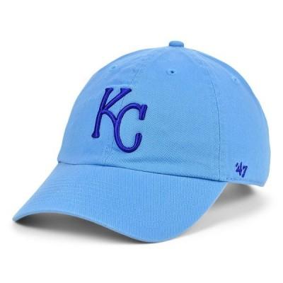 47ブランド 帽子 アクセサリー レディース Kansas City Royals Core CLEAN UP Cap LightBlue
