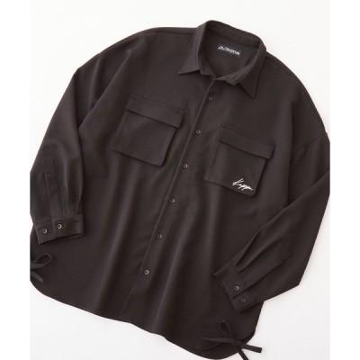 シャツ ブラウス Kappa/カッパ 別注  TRストレッチ オーバーサイズ ヨーク&コード 長袖CPOシャツ
