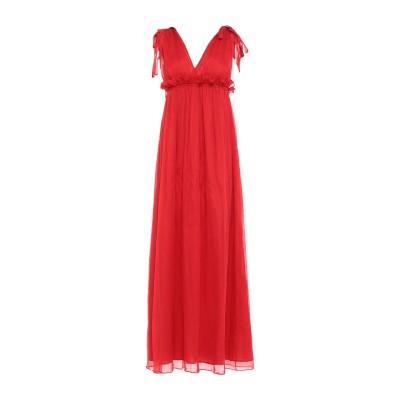 ドンダップ DONDUP ロングワンピース&ドレス レッド 42 シルク 100% ロングワンピース&ドレス