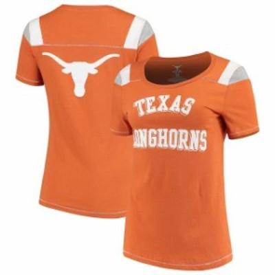 289c Apparel 289アパレル スポーツ用品  Texas Longhorns Womens Texas Orange Hatchling Shoulder Insert T-Shirt