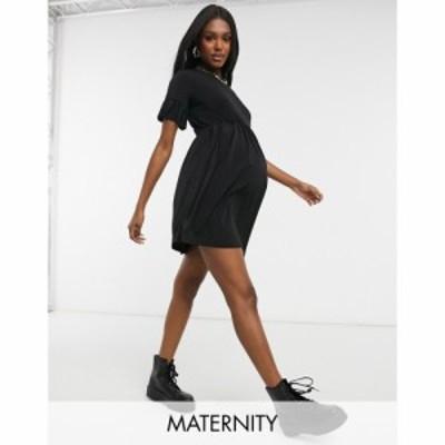 フラウンスロンドン Flounce London Maternity レディース ワンピース Flounce Maternity Super Oversized Frill Sleeve Smock Dress In