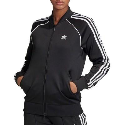 アディダス パーカー・スウェットシャツ アウター レディース adidas Women's Prime Blue SST Track Jacket Black/White