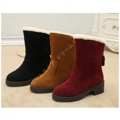 ムートン スノーブーツ レディース ショートブーツ 裏ボア 可愛い 防寒 防水 暖かい ウィンターブーツ 冬靴 短靴 保温 防滑 暖かく保つ 可愛い おしゃれ 雪靴
