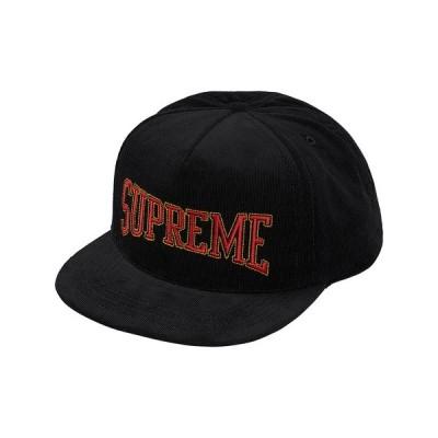 Supreme シュプリーム 2017-18年秋冬 キャップ Dotted Arc 5-Panel Red 帽子 ブラック ロゴ