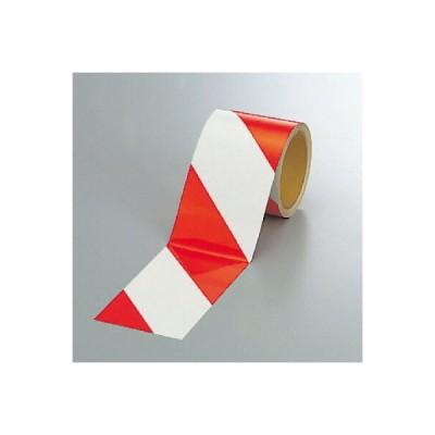 ユニット UNIT  反射トラテープ(赤/白)90mm幅×10m 374-12
