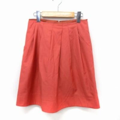 【中古】ボールジー BALLSEY トゥモローランド スカート フレア 膝丈 バックジップ シンプル 38 ピンク /ST30