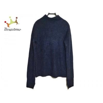 ルシェルブルー LE CIEL BLEU 長袖セーター サイズ36 S レディース 美品 黒 ハイネック/ロング丈 新着 20200429