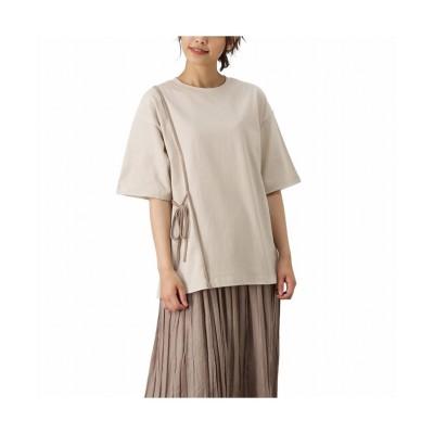 (MAC HOUSE(women)/マックハウス レディース)NAVY ネイビー 配色パイピングアシメTシャツ 115426922/レディース ベージュ